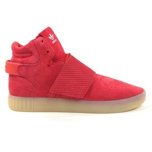 Adidas Tubular Invader Strap Mid Red Shoes BB5039